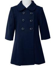Girl's wool Coat 12 mos. This exquisite elegant 100% navy wool