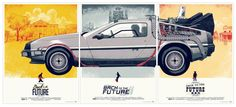 Joli triptyque des affiches de Retour vers le futur ! © Mondo