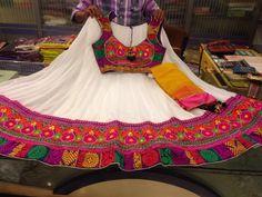 White gujarati style chaniya choli...Colors of India..perfect for garba!