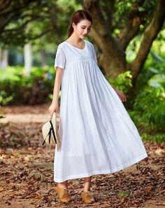 b8426adf07c white linen dress for women. Extravagant flattering loose dress