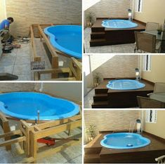 53 Simply Small Backyard Ideas With Swimming Pool… Backyard Pool Designs, Small Backyard Landscaping, Backyard Patio, Backyard Ideas, Patio Ideas, Hot Tub Patio, Landscaping Ideas, Piscina Diy, Diy Pool