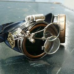Victorian Steampunk goggles aviator by UmbrellaLaboratory on Etsy