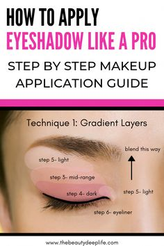 How to Apply Eyeshadow Like A Pro: Step By Step Makeup Guide Eye makeup simple . - How to Apply Eyeshadow Like A Pro: Step By Step Makeup Guide Eye makeup simple step-by step tips: - Eye Makeup Steps, Simple Eye Makeup, Blue Eye Makeup, Natural Eye Makeup Step By Step, Eyeshadow Step By Step, Eyebrows Step By Step, Eyeshadow Tips, How To Apply Eyeshadow, Makeup Eyeshadow