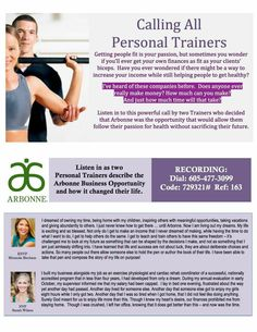 This is a fantastic business opportunity for health-and fitness-minded go-getters. Arbonne Consultant ID 21757182