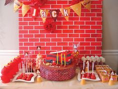 Adorable Fire Truck birthday party ideas