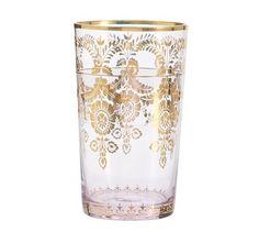 Moroccan Highball Glass, Set Of 4 - Blush | Pottery Barn