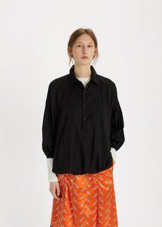 Drawstring Hem Cotton Shirt by Undercover - La Garçonne