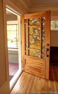 dream door for my dream craftsman home ----- Dogwood Door by Theodore Ellison Designs and The Craftsman Door Company Craftsman Decor, Craftsman Interior, Craftsman Style Homes, Craftsman Bungalows, Craftsman Furniture, Entry Doors, Wood Doors, Entrance, Front Doors