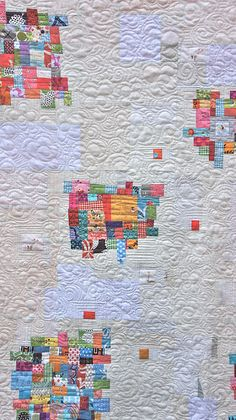 "Great use of little scraps in the ""Splat Quilt"""