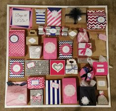 Pink Crafter: My Sister's Wedding Advent Calendar