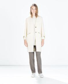 WOOL COAT WITH ZIPS-WOMAN-SALE | ZARA Russian Federation