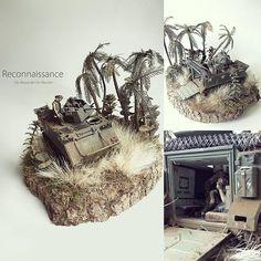 """Reconnaissance"" M113 Armored Personnel Carrier diorama. Modeler Alexander ter Meulen #scalemodel #plastimodelismo #miniatura #miniatur #hobby #modelismo #plastickits #usinadoskits #udk #plasticmodel #plastimodelo #miniature #diorama"