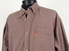 Columbia Sportswear Company Men's Plaid Button-Down Shirt Size XL 100% Cotton #Columbia #ButtonFront