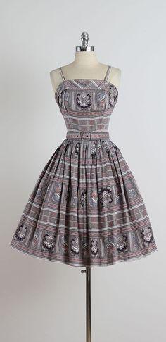 Baileys Harbor . vintage 1950s dress . by millstreetvintage