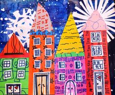 Snowflake Collage Villages and Bringing Joy into the Art Room