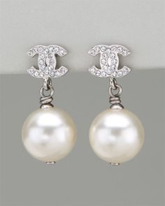 Chanel Rhinestone and Pearl CC Drop Earring: I have the same exact one... love... love them!