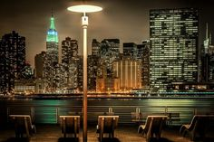 NYC East River with Empire State