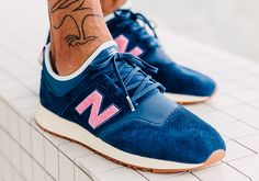 promo code 7bd15 85920 Titolo teams up with New Balance for the Titolo New Balance 247 Deep Into  The Blue releasing June 2017 featuring blue suede and pink branding.