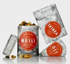 Middagsfrid packaging designed by Bold in collaboration with Peter Herrman.