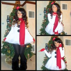 So going to wear a snow woman outfit like this for next Christmas!
