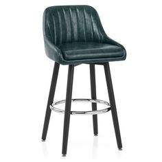 The Hamilton Bar Stool Antique Green is a wonderfully retro piece. A swivel plate beneath the seat makes the stool even more desirable. Retro Aesthetic, Kitchen Styling, Foot Rest, Polished Chrome, Hamilton, Bar Stools, Antiques, Green, Restaurants