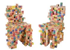 Maybe not this exactly, but chairs you could build with your children would be cool? LD