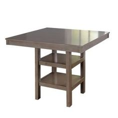 Parsons Concrete Top Dark Steel Base X High Dining Table - Table pads denver
