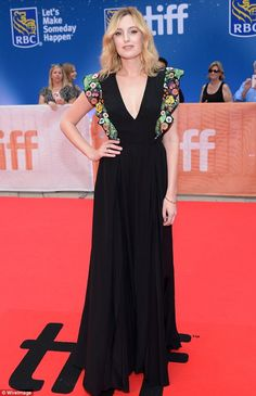 Every inch a lady: Laura Carmichael, looked effortlessly elegant in a black floor-length gown as she headed to the premiere of A United Kingdom at Toronto Film Festival on Friday Laura Carmichael, Toronto Film Festival, Floor Length Gown, Red Carpet Dresses, Downton Abbey, Dress To Impress, Celebrity Style, Black Floor, Gowns
