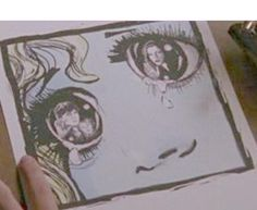 Beautiful art by Peyton Sawyer on One Tree Hill -  I wonder who actually drew these?