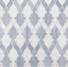 ANN SACKS Chrysalis bombay glass mosaic in light smoke and gosh white