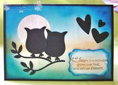 Handmade Anniversary Card ... Blog - EnchantINK ... Stampin' Up! - Occasional Quotes ... Owl Punch