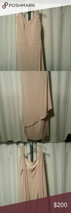 Alfred Angelo Formal Gown  NWOT Mother of the Bride or Prom or Formal Occassion. Stunning with chiffon scarves either trailing behind or may be tied. Length is 60. Armpit to armpit is 17. Alfred Angelo Dresses Maxi