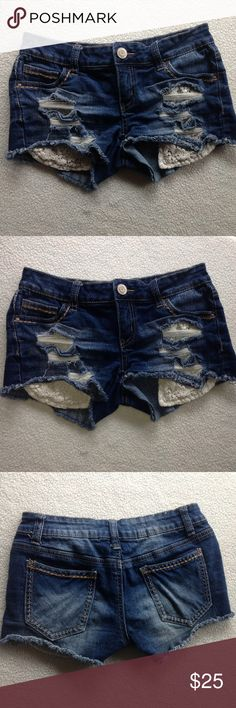 Vanilla Star ripped Jean shorts Excellent quality Vanilla Star Shorts Jean Shorts
