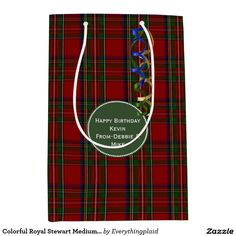 Colorful Royal Stewart Medium Custom Gift Bag Medium Gift Bag