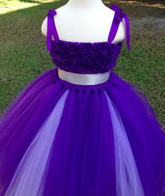 Grape purple grey tutu dress, flower girl tutu dress, party dress, photo prop, birthday dress, custom tutu dress