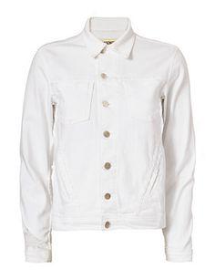 L'Agence Celine Distressed Jacket: White