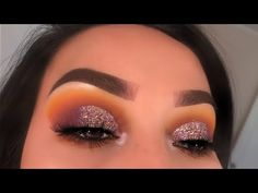 Yellow & Purple Glitter Cut Crease | Zulu Palette | Lizbeth.412 - YouTube