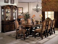 This Dining room collection willleave your guests in awe. Neo Renaissancetable and chairs set features a European tradition of elegance, and it…