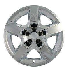 "New CHROME AURA 17"" Bolt On Hub Caps 5 Spoke Rim Wheel Covers 3277 STYLE SET OF 4  #Hubcaps #WheelCovers"