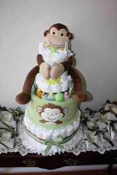 Colleen's Baby Shower Diaper Cake