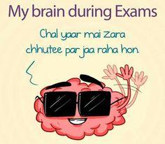 ιѕ мonтн ĸ end мe тo dυa ĸaren ѕaв вraιn ĸaнιn na jaye мeĸo cнor ĸ ❤aвrar❤ Desi Humor, Desi Jokes, My School Life, Exams Funny, Exam Quotes, Indian Funny, Funny Qoutes, School Memories, Funny Bunnies