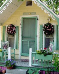 Yellow and green cottage