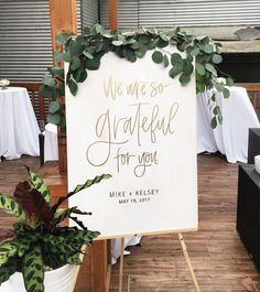 Gorgeous welcome sign! | Welcome Sign by Hawaii Calligraphy | Wedding Welcome Ideas | Ceremony Welcome Sign | Modern Calligraphy | Wedding Calligraphy | Wedding Signs | Reception Decor | #welcomesign #weddingsigns