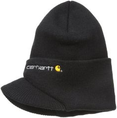 Carhartt Men s Knit Hat With Visor Black One Size  fashion  clothing  shoes    9e9c950f302d