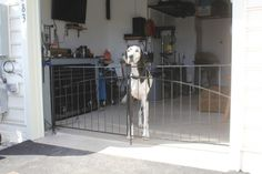 DIY Dog Fence for Garage Doors Around the House