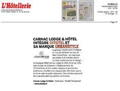 Carnac Lodge & Hôtel dans L'Hôtellerie Restauration - 10 mai 2013