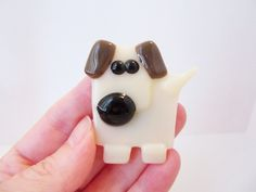Dog+Magnet++Fused+Glass+Dog++Refrigerator+Magnet+by+LaRocheStudios