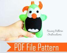 Monster Plush Sewing pattern  PDF ePATTERN by MariaPalitoPatterns, $4.00