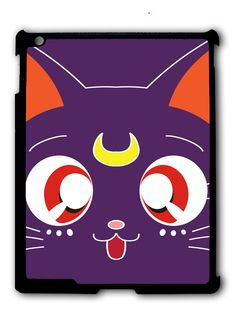 Sailor Moon LUNA Kawaii Cat Ipad Case, Available For Ipad 2, Ipad 3, Ipad 4 , Ipad Mini And Ipad Air