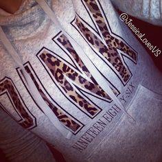 Vs Pink leopard hoodie